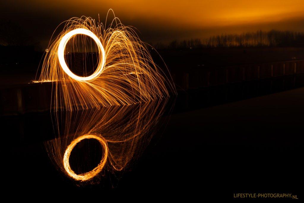 Lightpainting staalwol